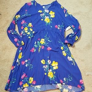 Old navy blue flowered print dress